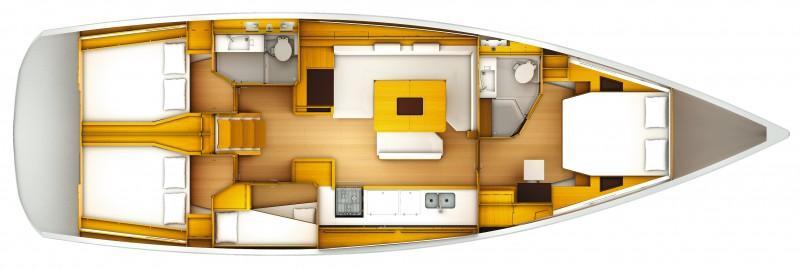 sailboat Sun Odyssey 509