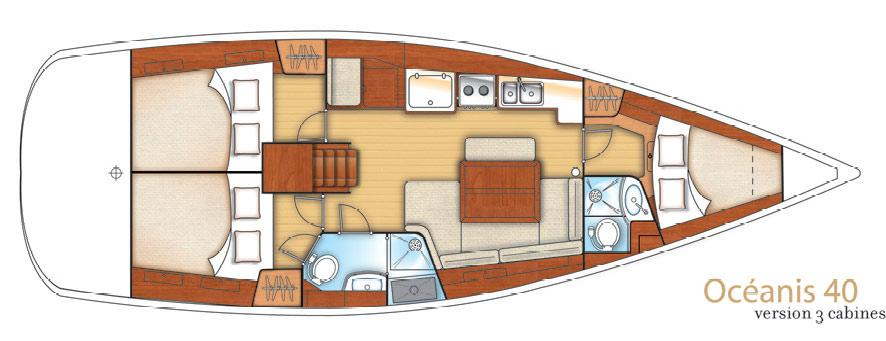 sailboat Oceanis 40