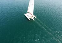 trimaran aerial photo sail