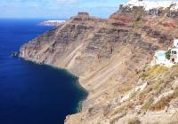 coast Santorini Greece island