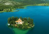 Sailing into the waterfalls of Krka National Park