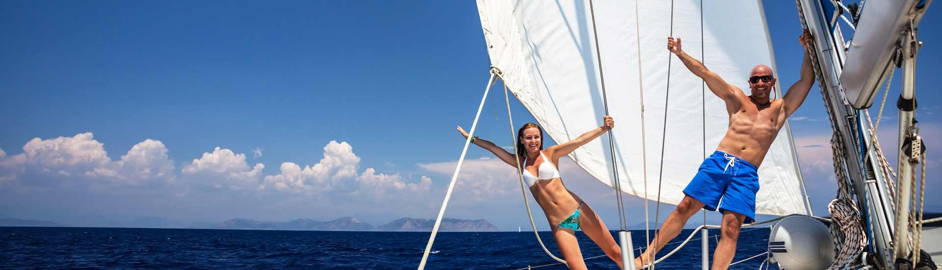 Have fun on sailing yacht