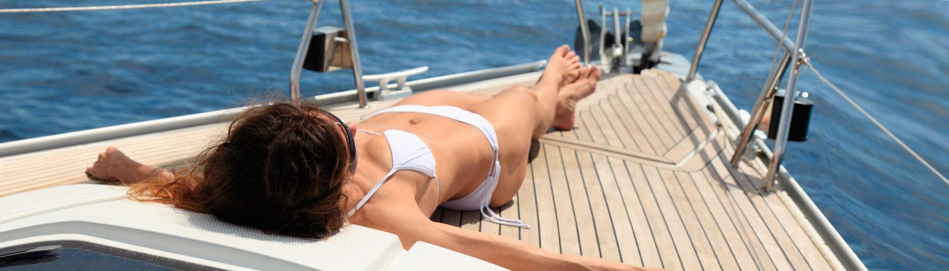 Relax and enjoy sailing