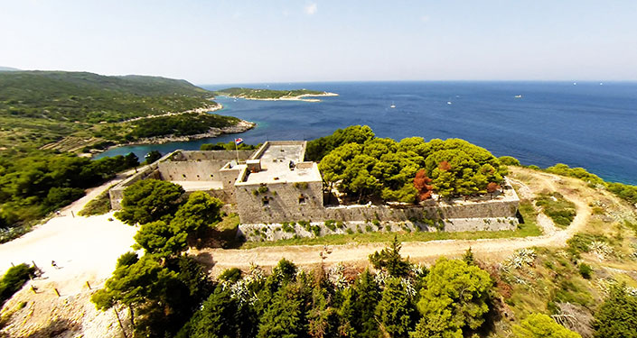 Fort George, island Vis, Croatia