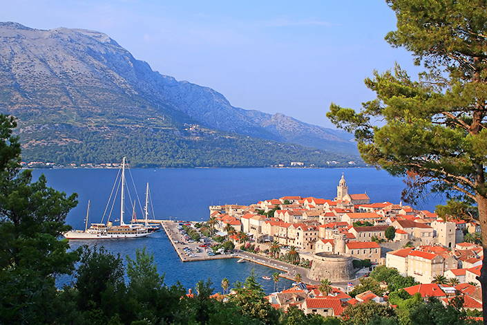 Korcula island and the city