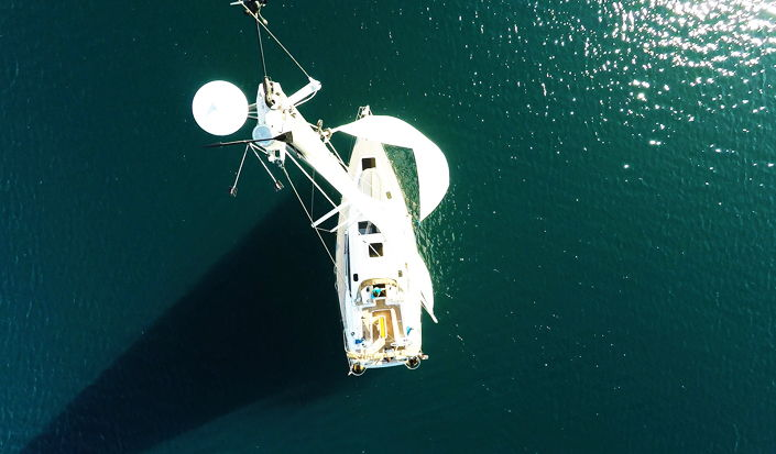 Sailing Yacht Elan 45 Impression from the air