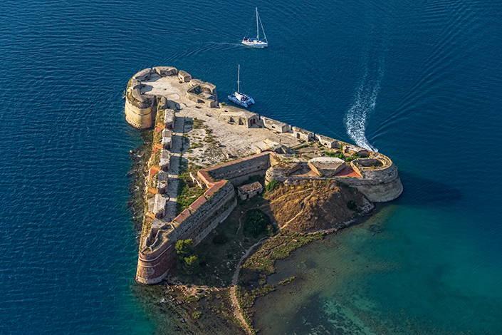 La forteresse de St. Nicola près de Šibenik
