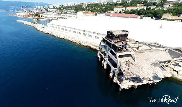 Torpedo launch station in Rijeka