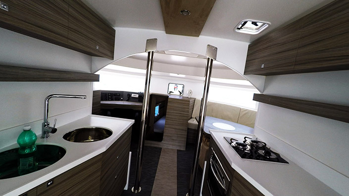 Trimaran sailing yacht-Neel 45-inside