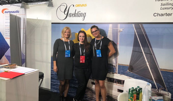 International Charter Expo 2018 - mit unseren Partnern Orvas Yachting
