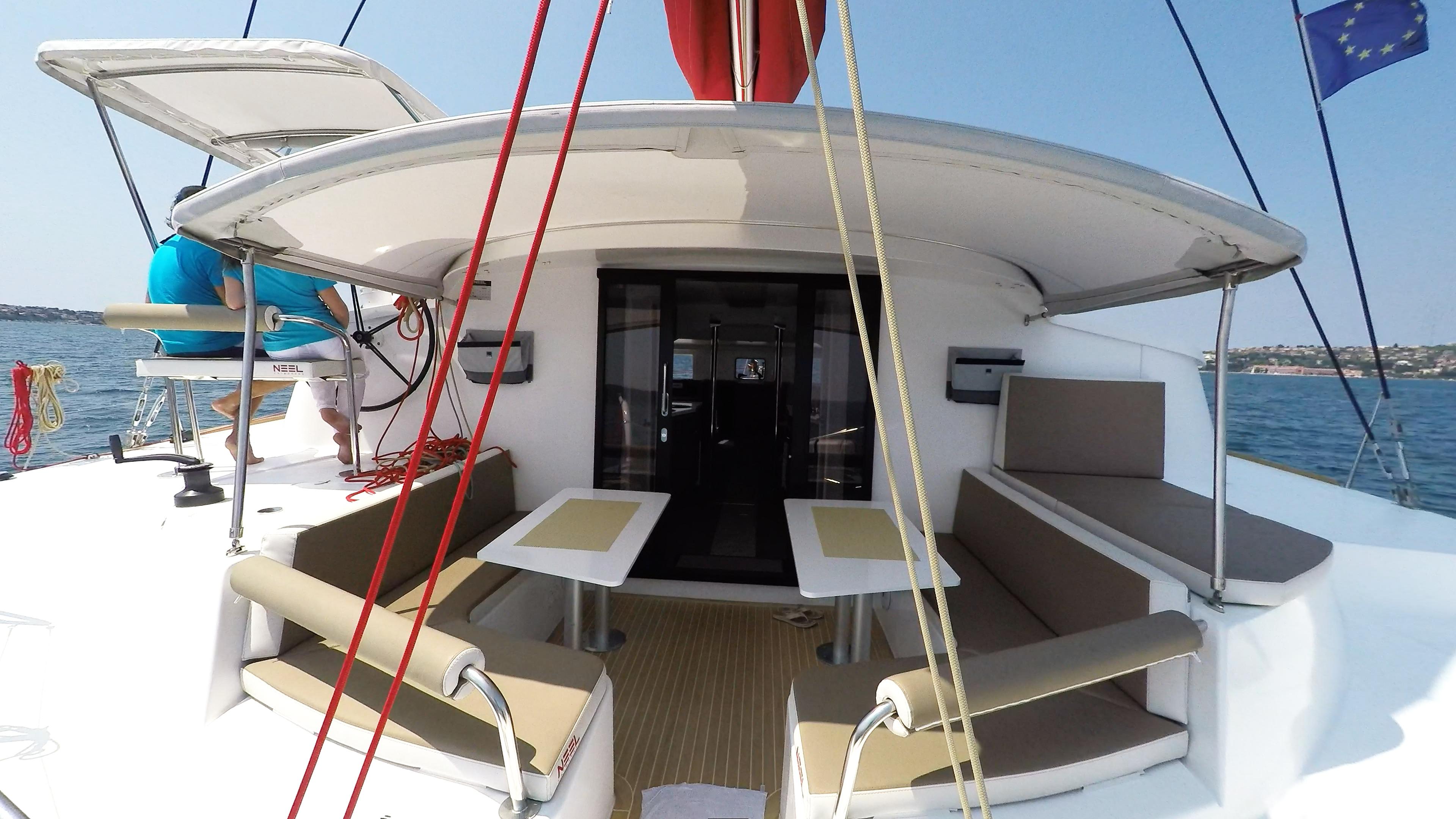 stern cockpit trimaran yacht neel 45