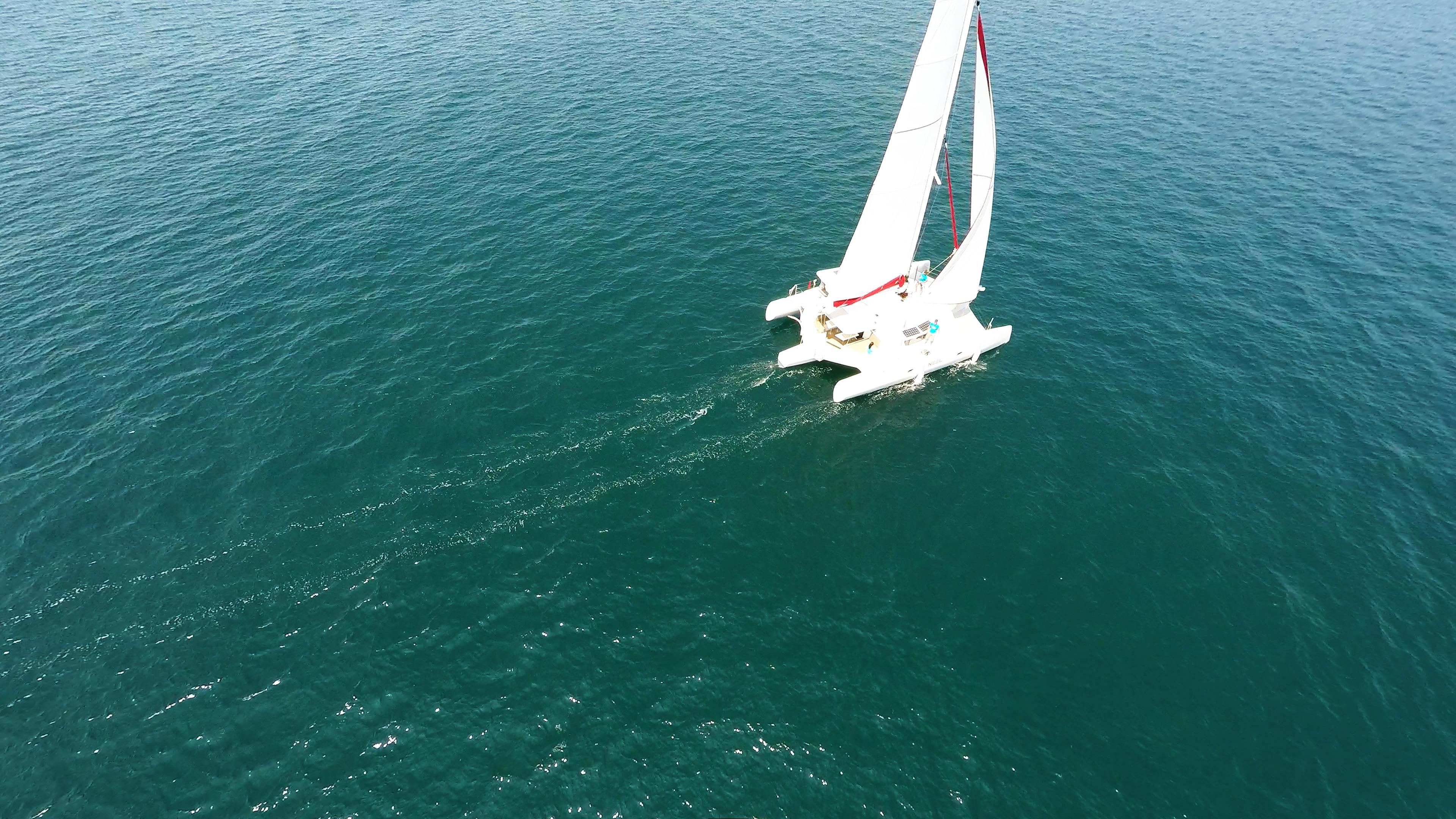 trimaran at sea
