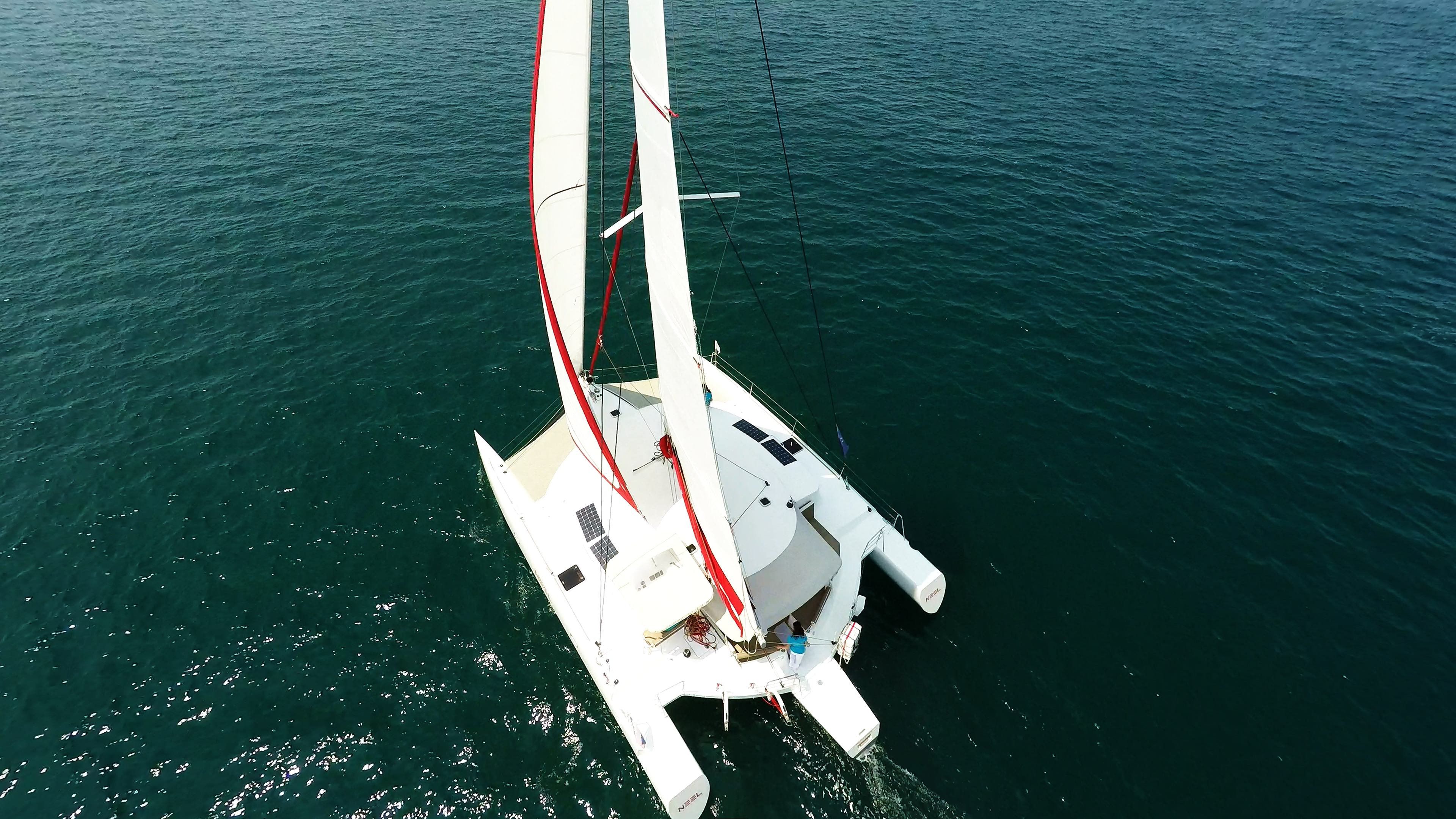 trimaran from above