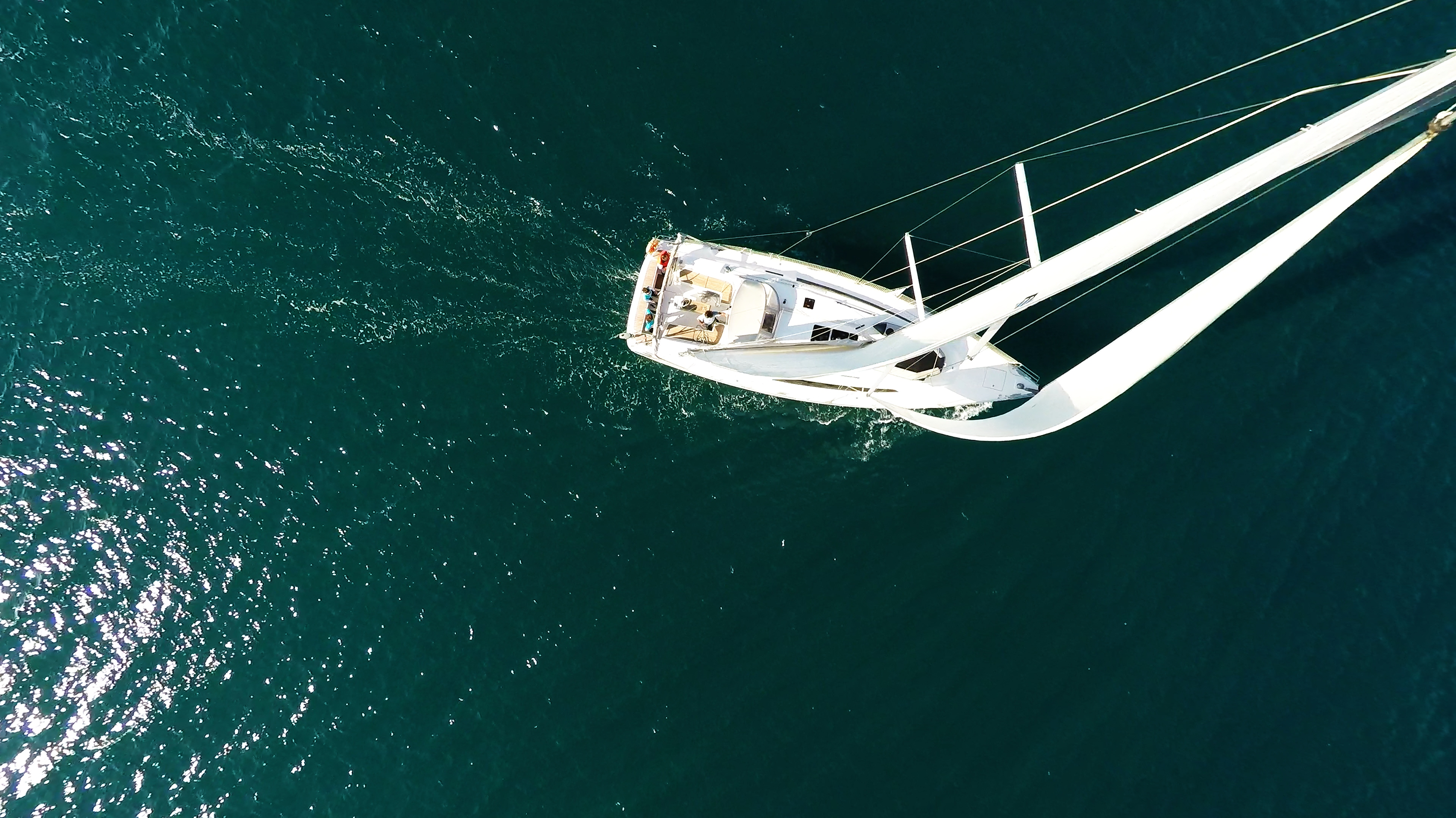 sailing yacht from sky sails