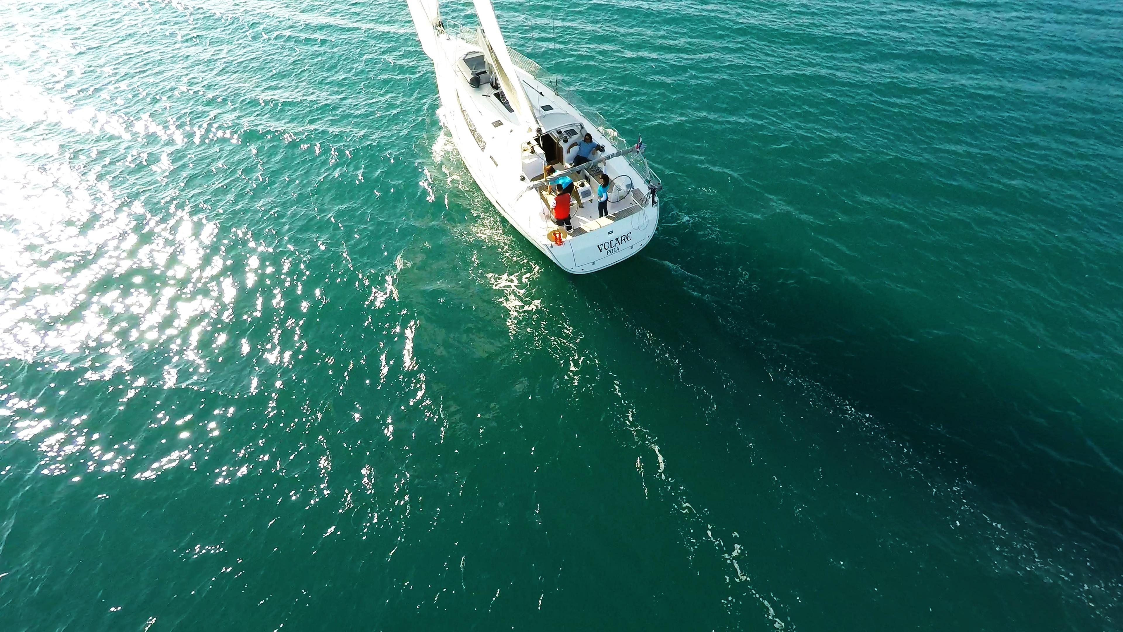 sailing yacht sail at sea