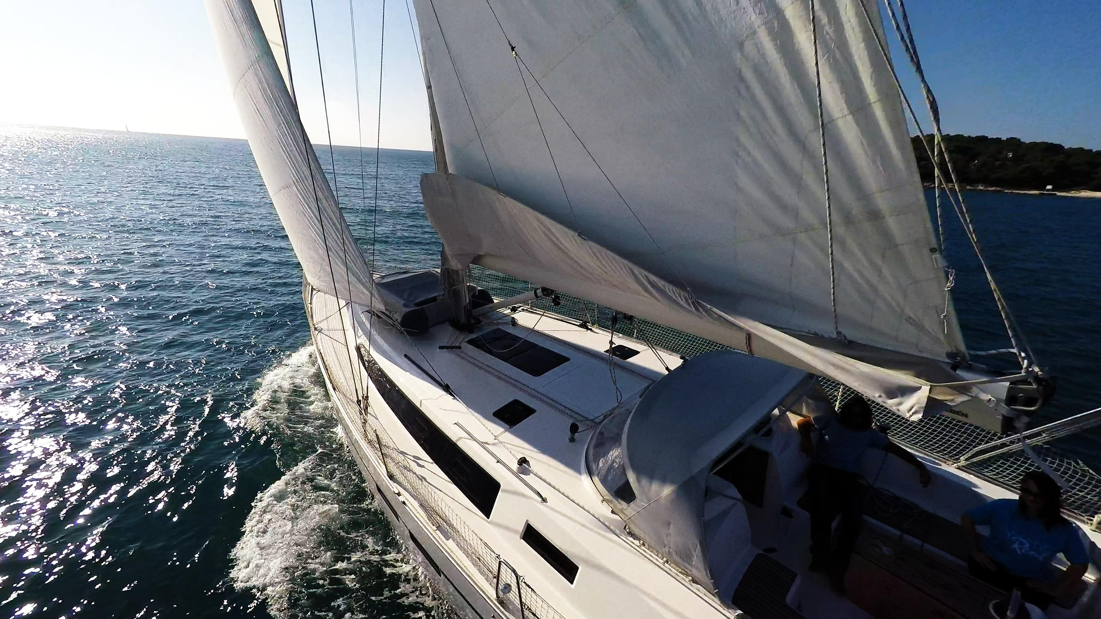 sailing yacht sailboat bavaria 46 cruiser cockpit