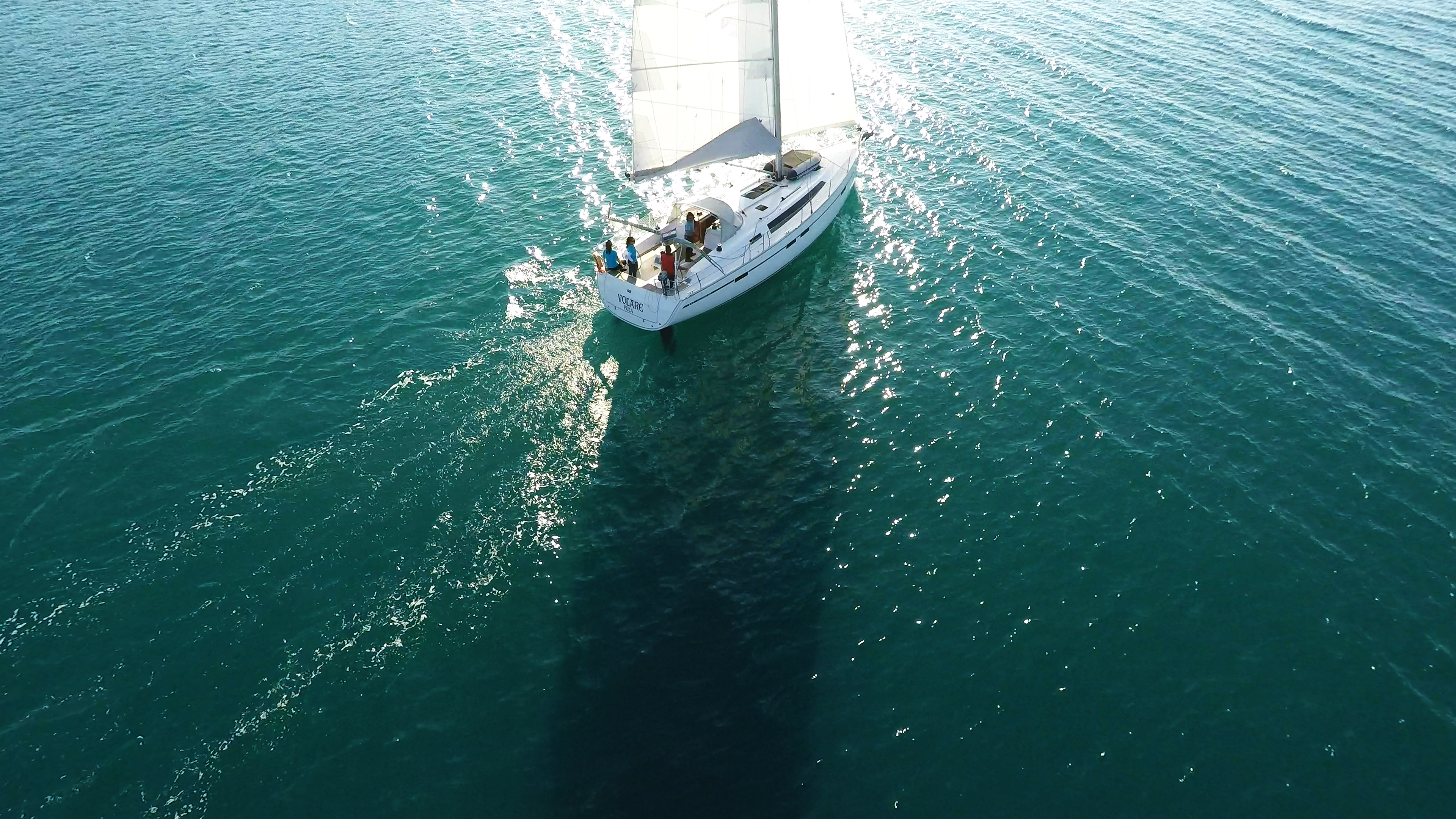 sailing yacht sails sea