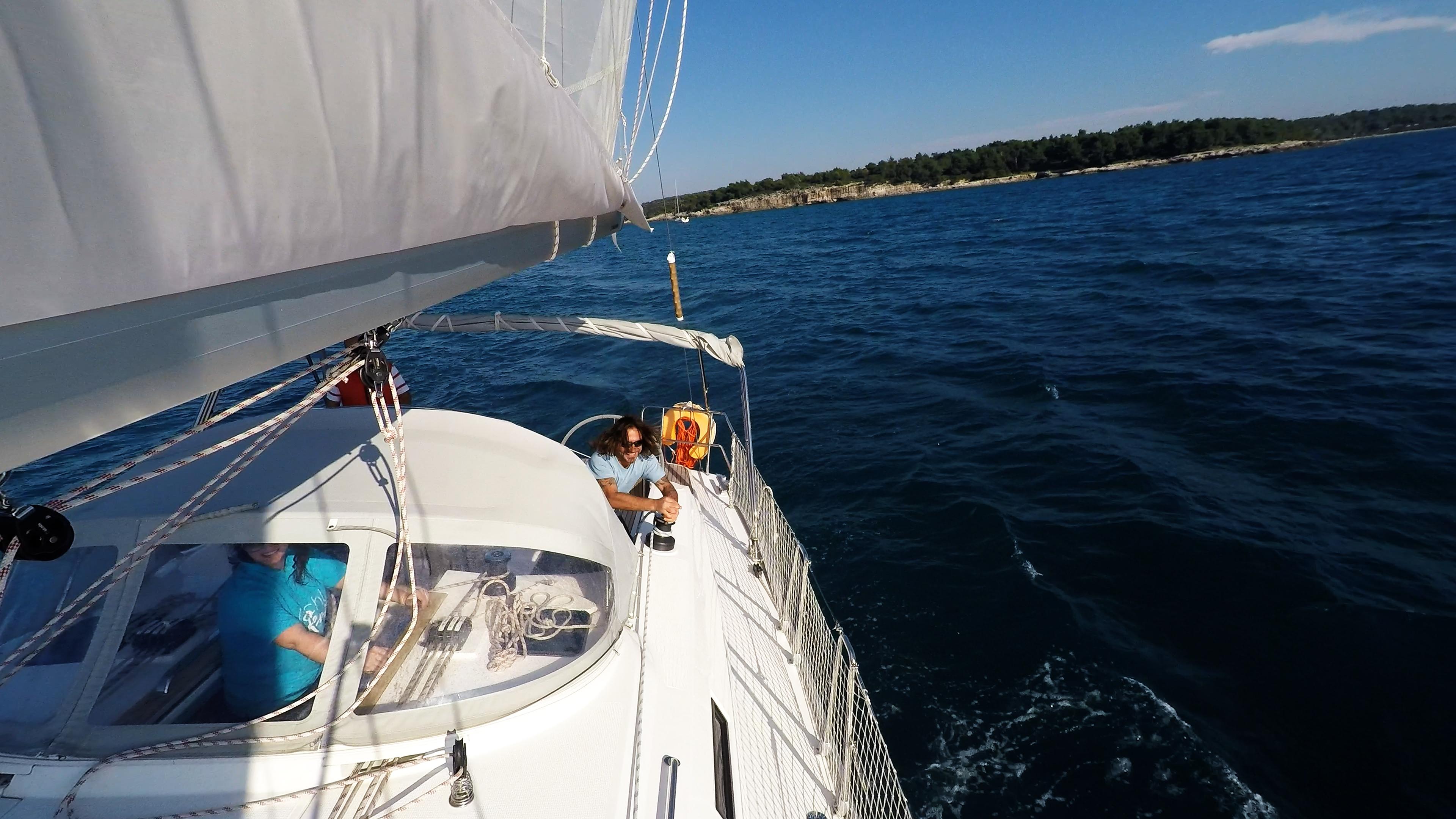 sailing yacht winch sail