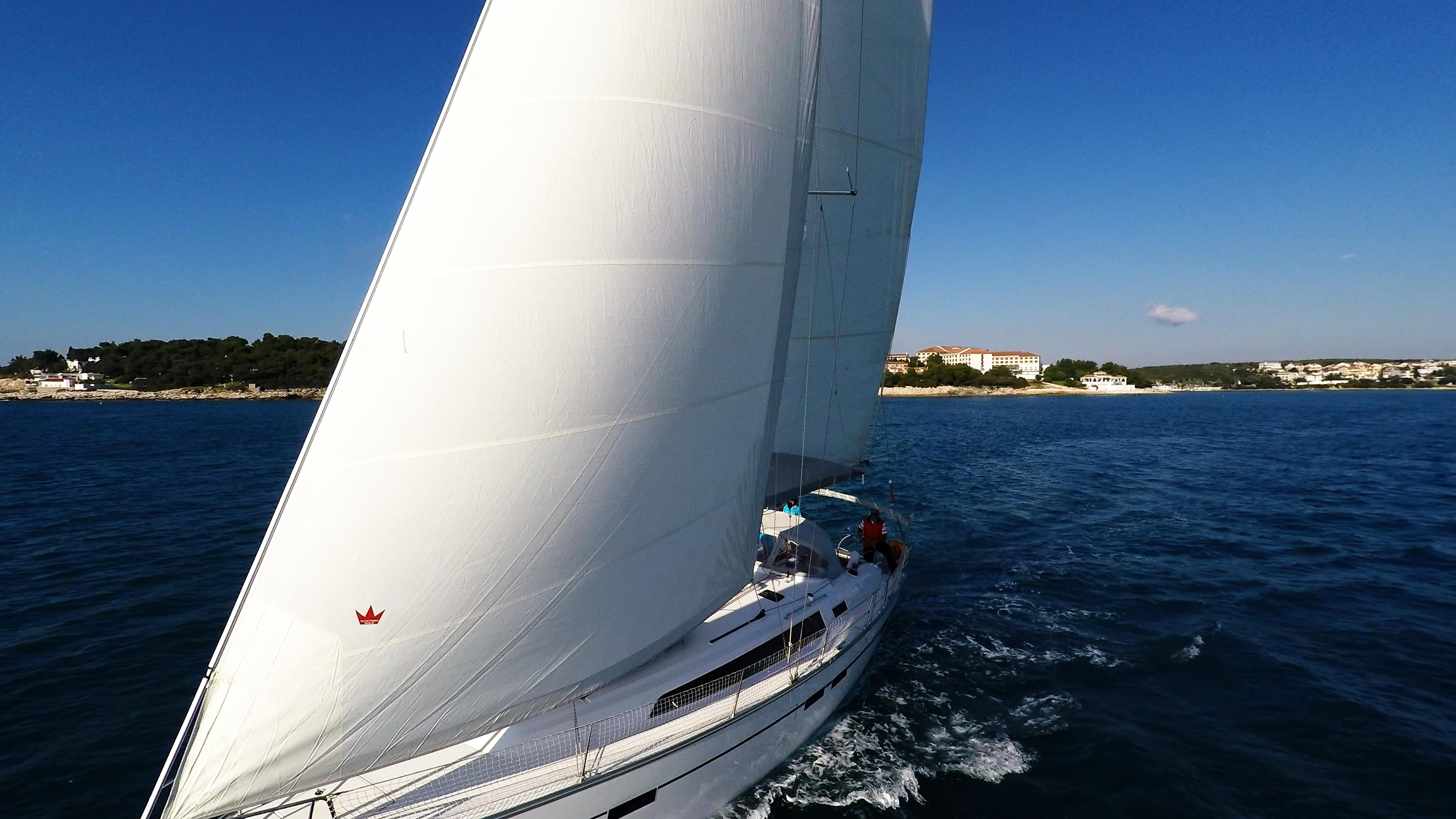 sailing yacht sails bavaria 46 cruiser sailboat