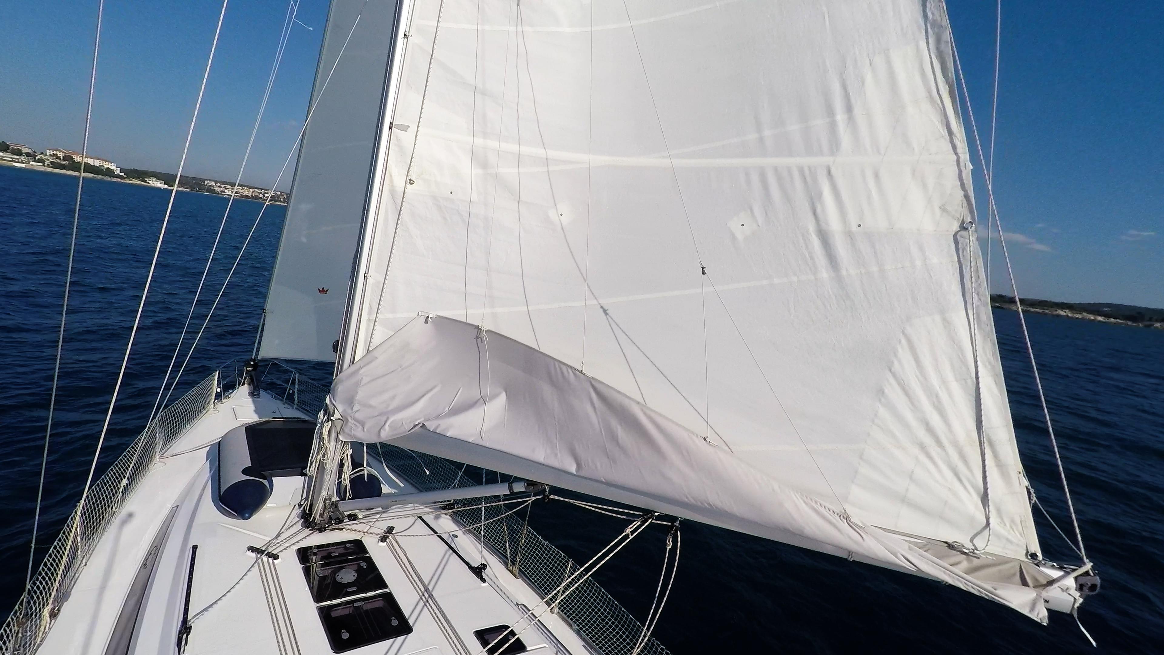 sailing yacht sails deck sailboat mast