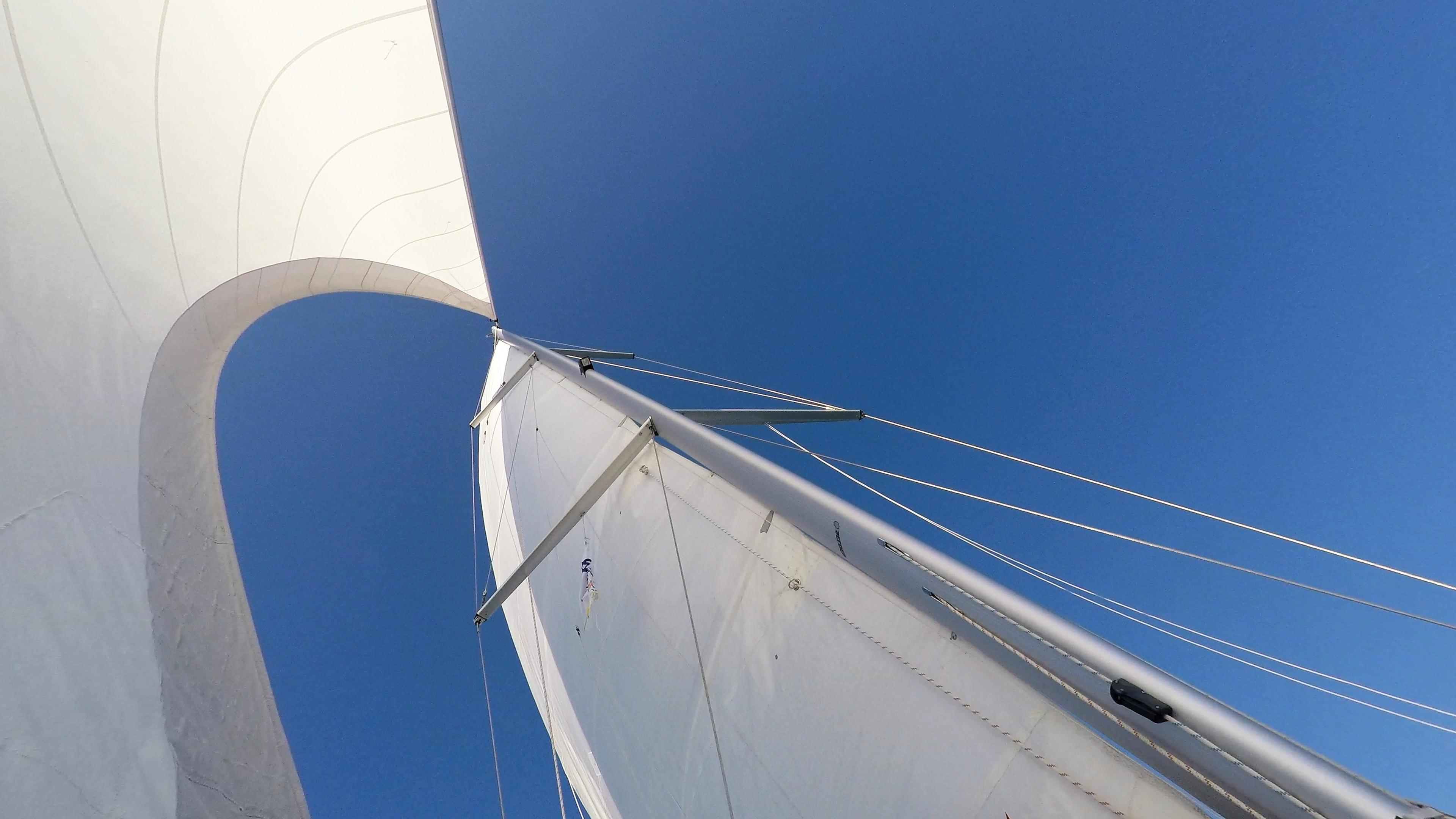 sailing yacht sails mast sailboat