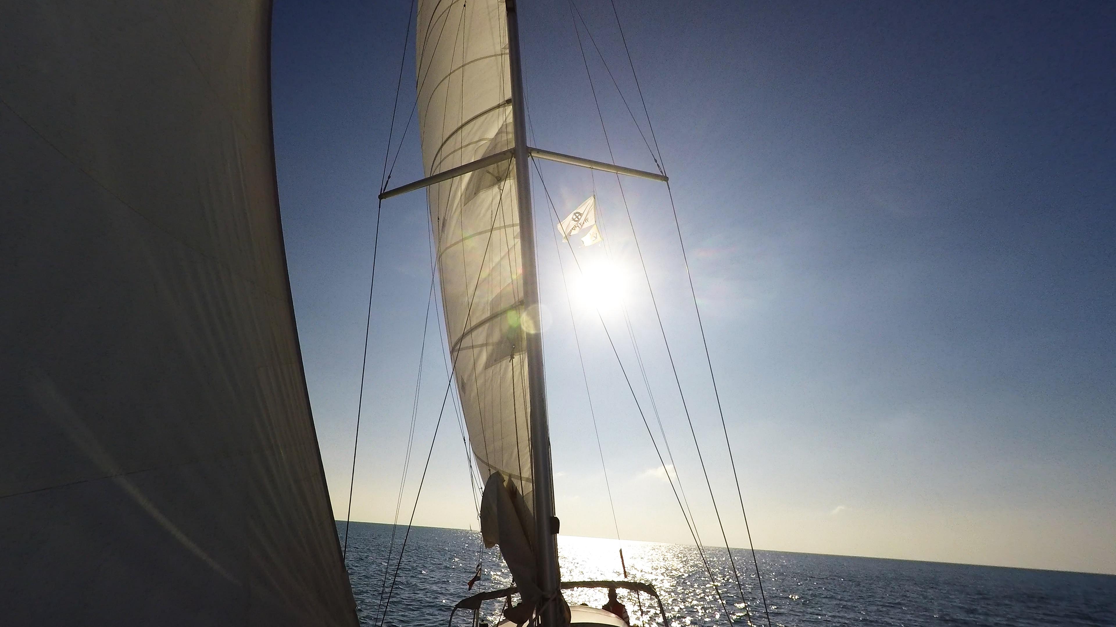 sailing yacht sails mast sailing yacht sun