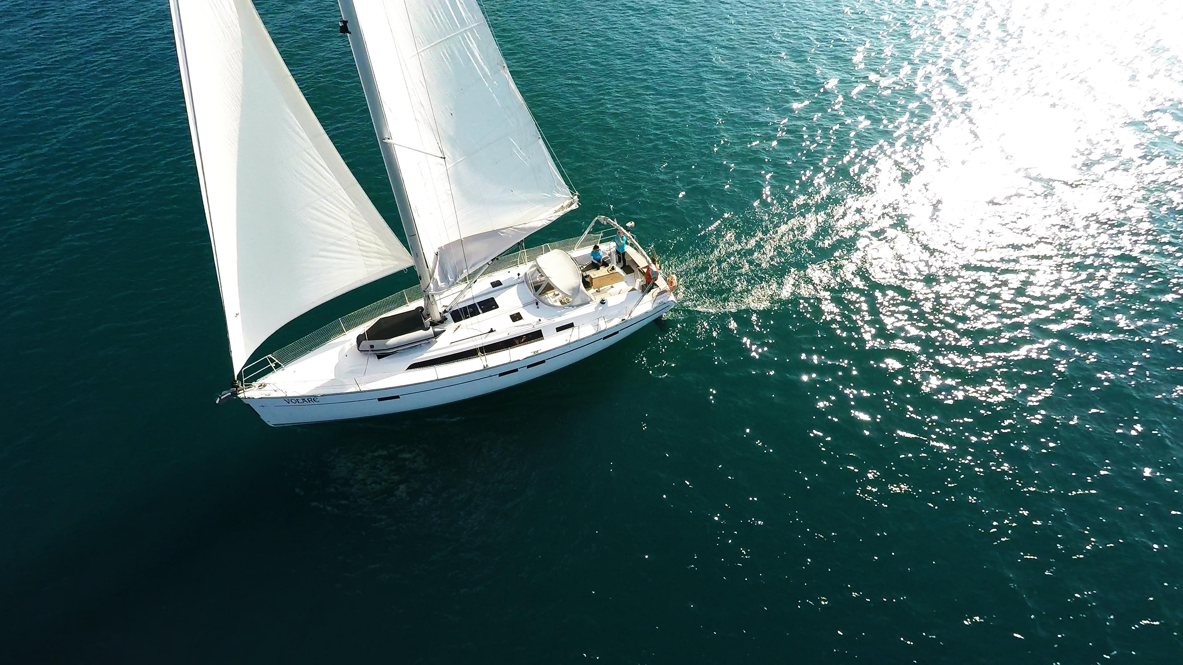 sailing yacht sails sailing yacht bavaria 46 boat