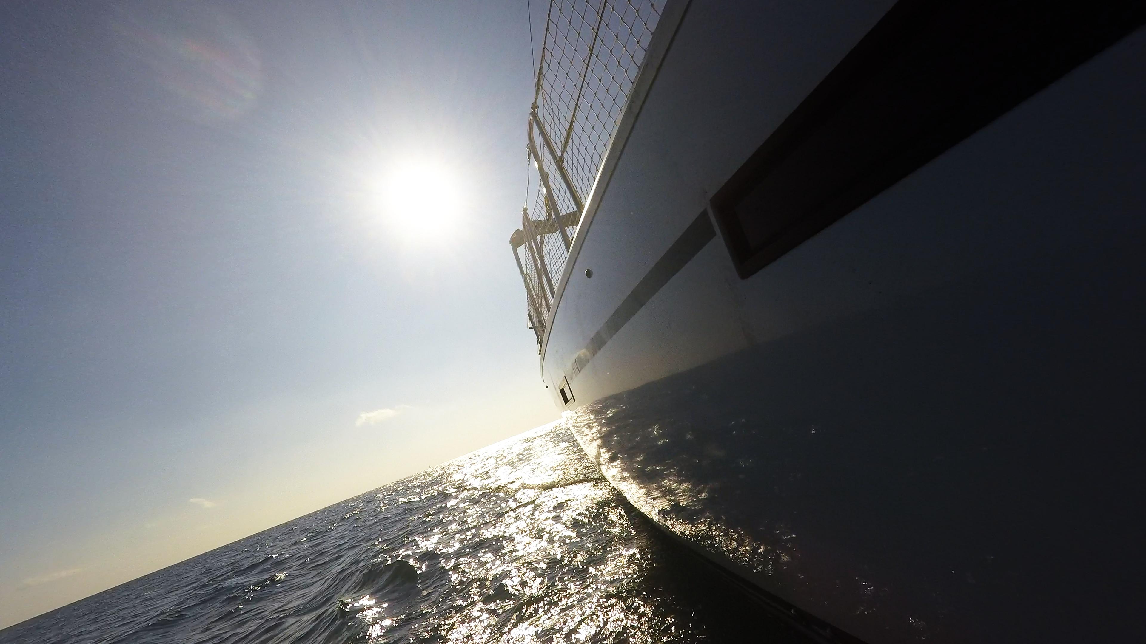 sailing yacht side hull window sailing yacht sun sea