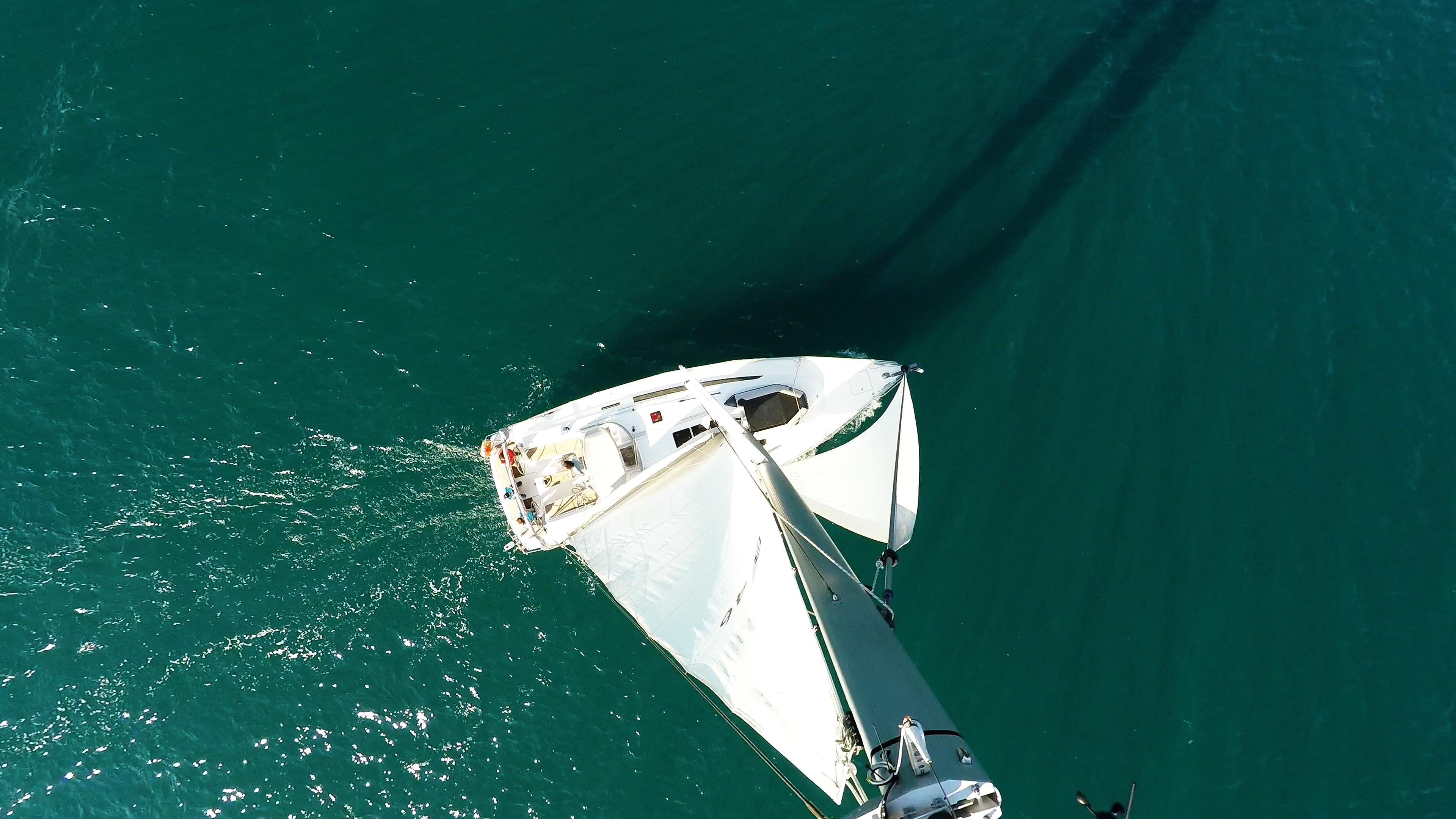 sailing yacht top mast rigging bavaria 46 sailing yacht sea