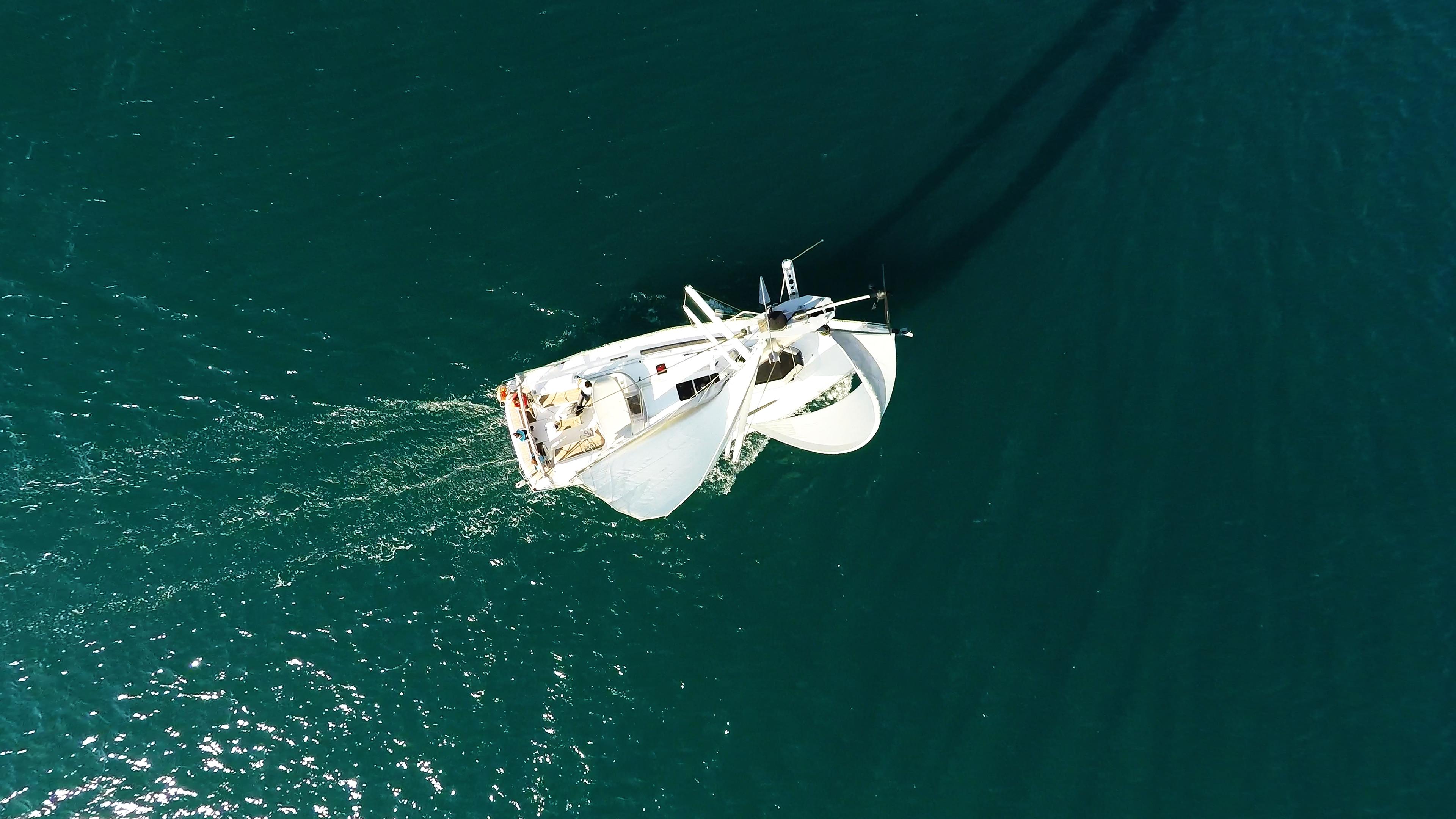 sailing yacht top mast sailboat under sails sailing yacht