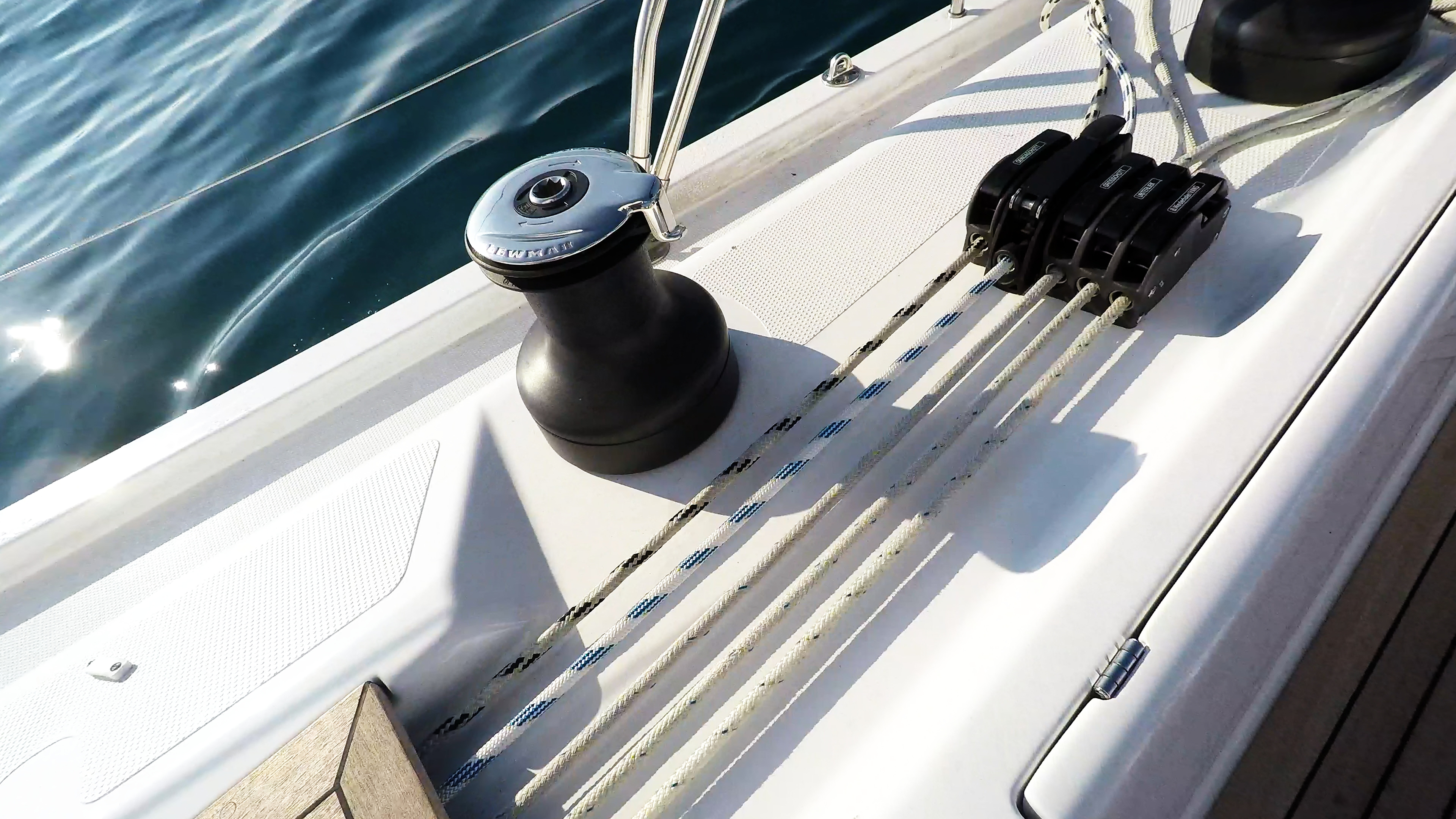 sailing yacht sailboat self tailing winch ropes stoppers
