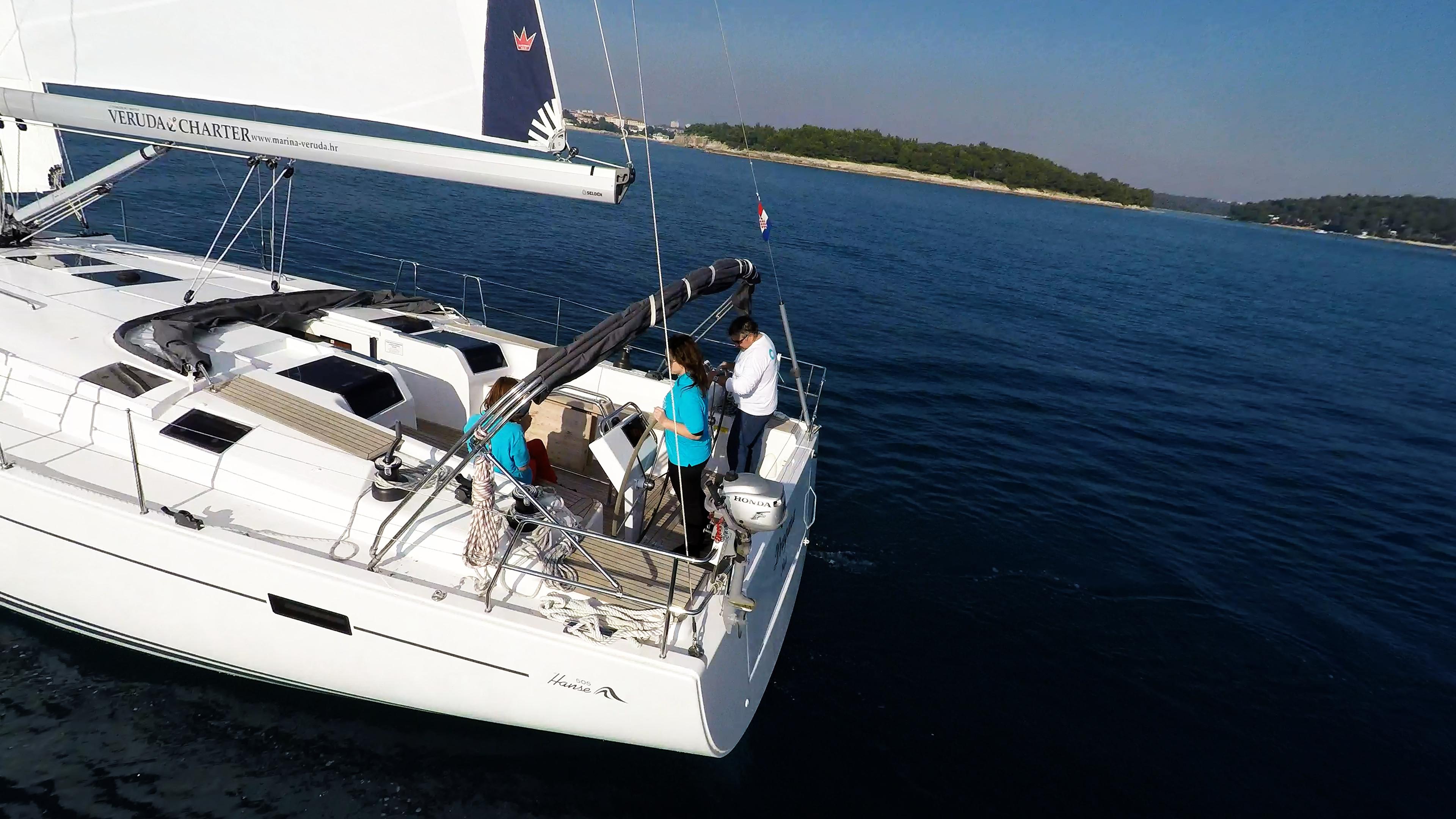 sailing yacht steering wheels cockpit