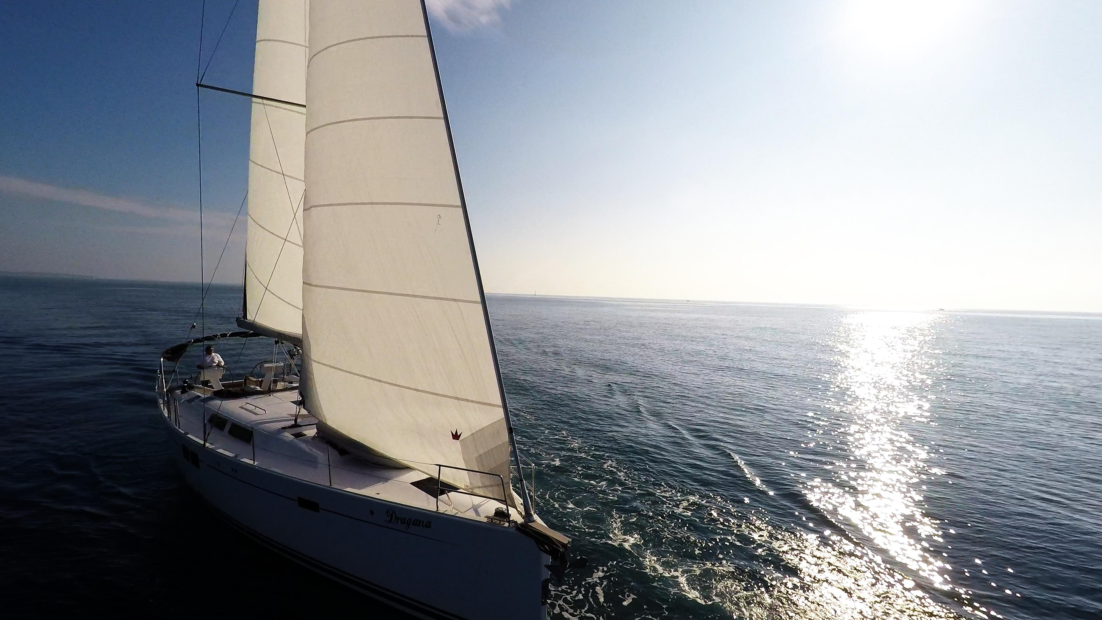 sailing yacht sails sailing yacht boat Hanse 505 sun sea