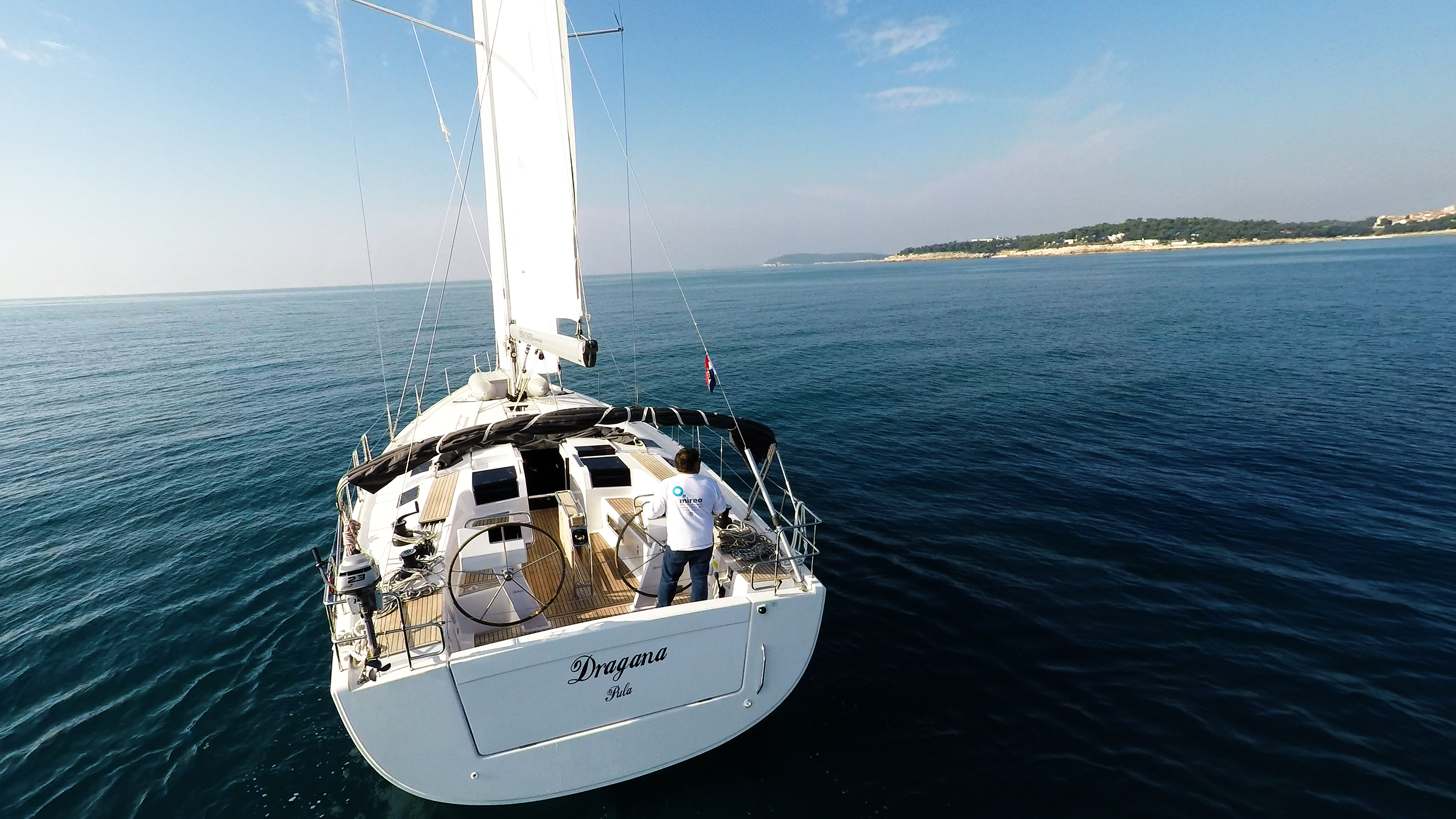 sailing yacht stern sailing yacht Hanse 505 boat sea