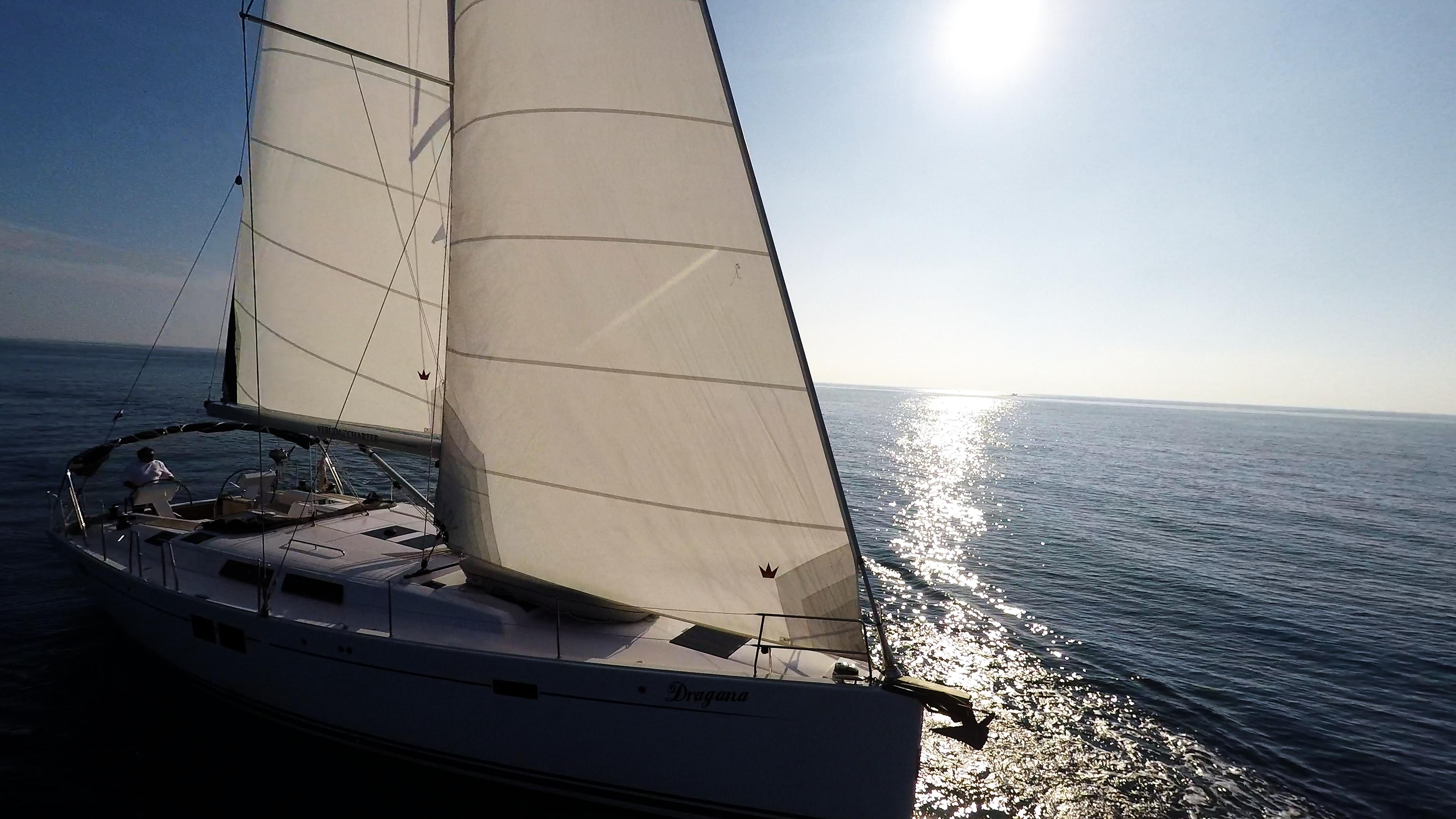 sailing yacht sun sails sailboat sea sailing yacht Hanse 505