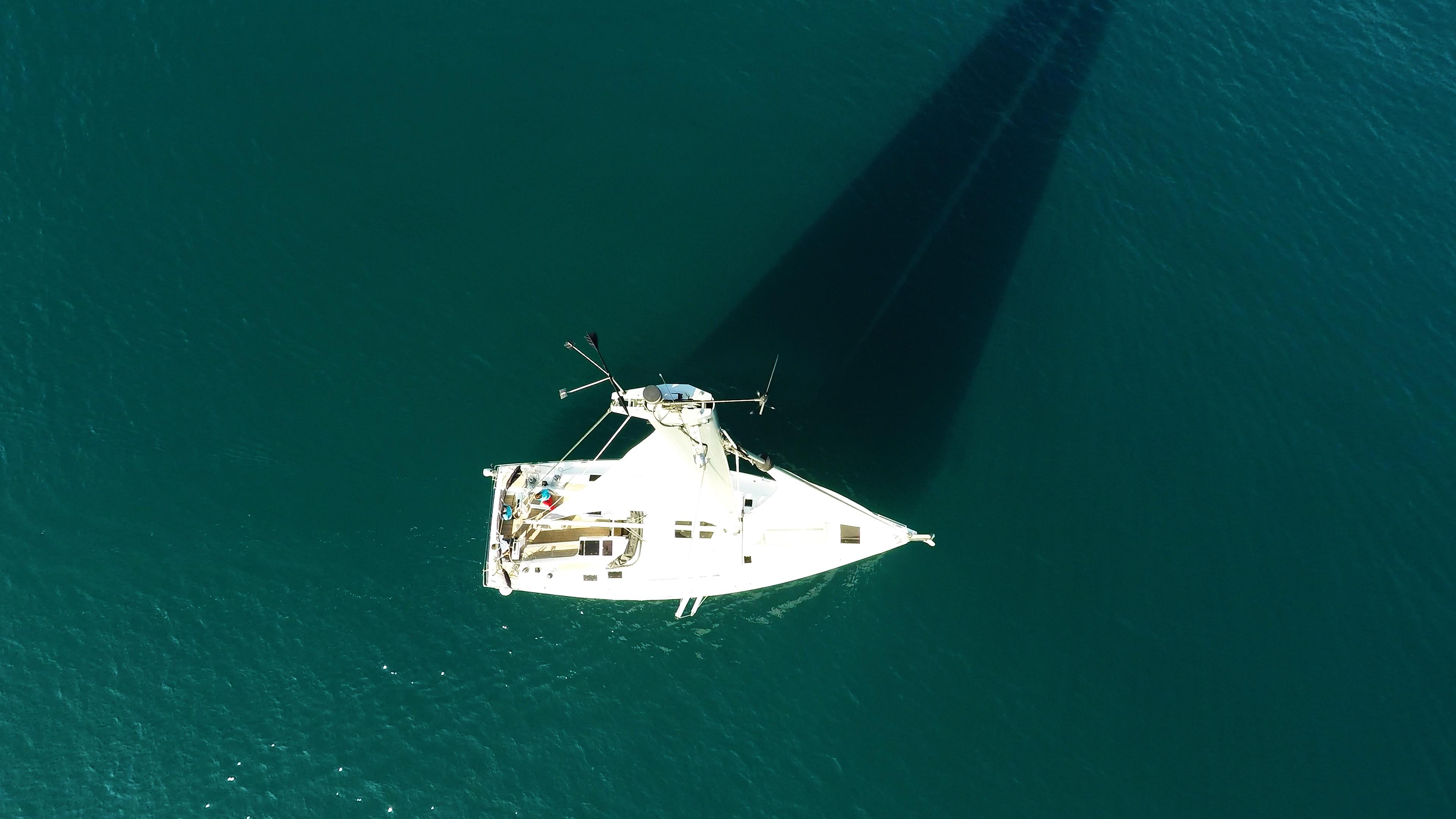 sailing yacht top mast sails rigging sailing yacht deck sea Hanse 505