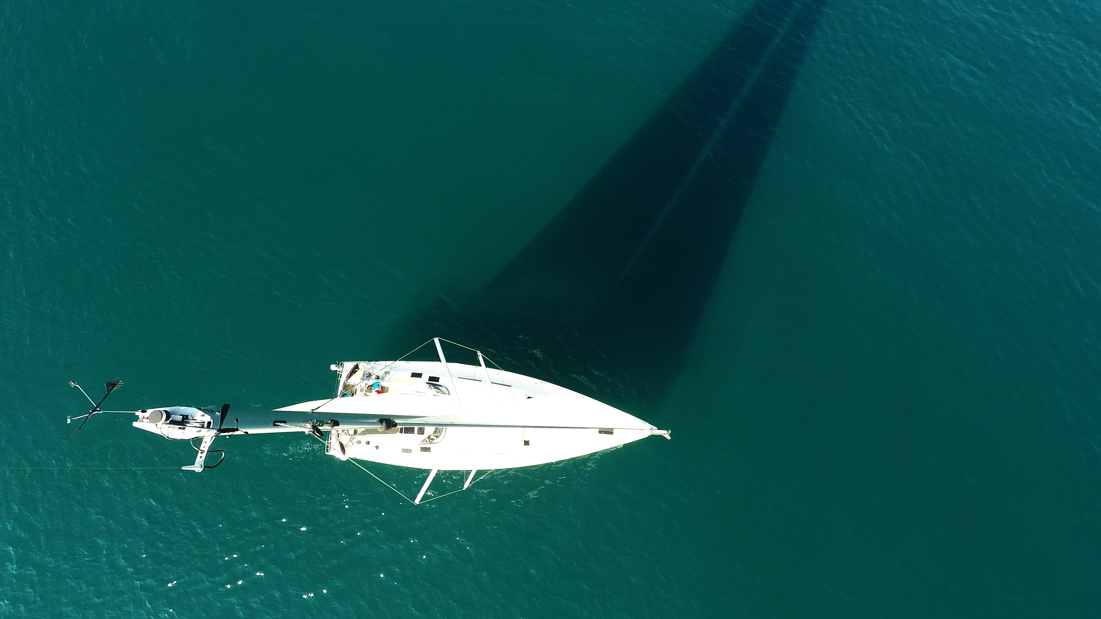 sailing yacht top mast wind indicator sailboat Hanse 505 sailing sea deck